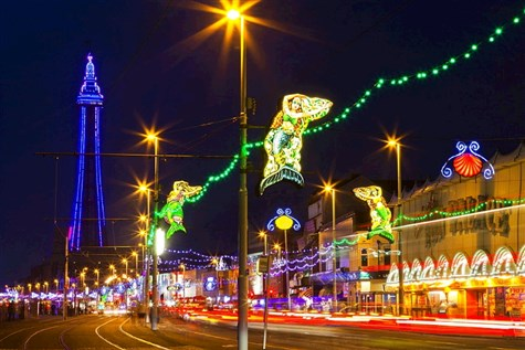 Blackpool Illuminations, with tour of Lights